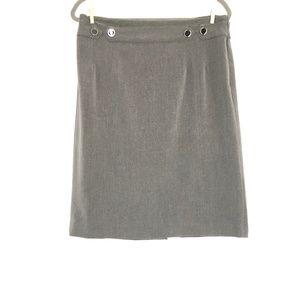 Adrienne Vittadini Gray Midi Skirt Women's Sz 12